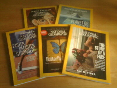 Bundle of 5 x NATIONAL GEOGRAPHIC Magazines - May / Jun / July / Aug / Sep 2018.