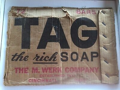 TAG Soap Advertising Cardboard Box