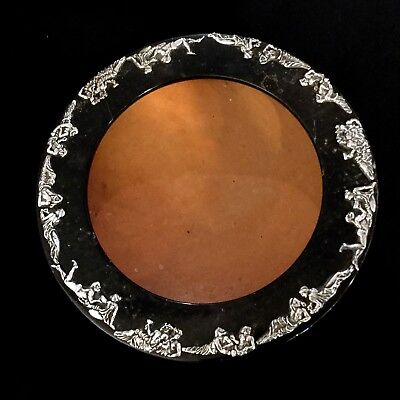 Antique Italian Bowl Made From Silver And Stone Magnificent Quality