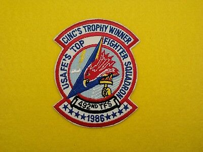 "U.s.a.f...492Nd Tactical Fighter Squadron ""cinc's Trophy Winner 1986, New"