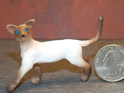 Dollhouse Miniature Pet Cat Siamese Animals 1:12 inch scale K66 Dollys Gallery