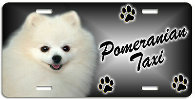 Pomeranian cream Taxi Line License Plate (( LOW CLEARANCE PRICE ))