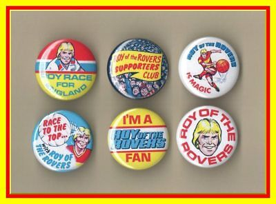 Roy of the Rovers Badge Collection - Retro - Melchester Rovers - New - Free Post
