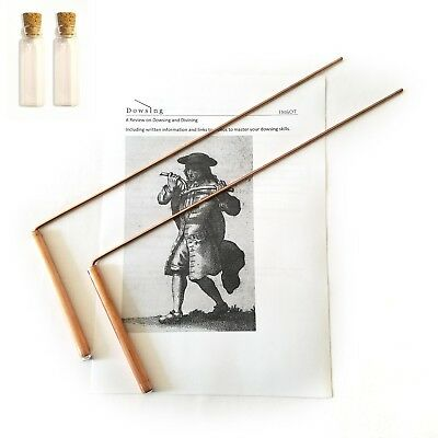 Dowsing Rod Copper 99% Solid. Ghost Hunting Divining Water & Gold - Non Toxic