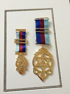 MASONIC LARGE CHAPTER Jewel the best on ebay solid silver gold plated