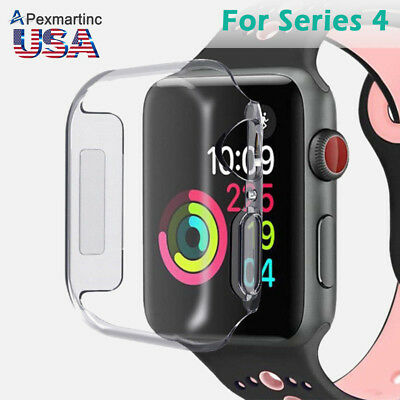 Full Cover Gel TPU Slim Soft Clear Protector for Apple Watch Series4 40MM/44MM