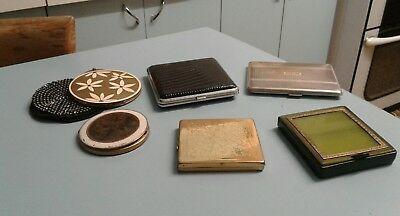 Vintage Powder Compacts And  Cigarette Cases,