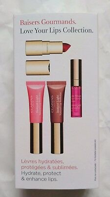 Clarins Gift Set Love Your Lips Collection New & Boxed *FAST POST*
