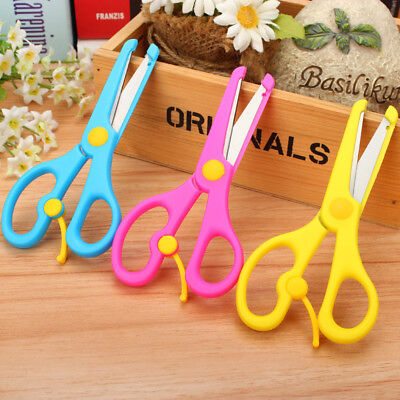 1Pc Safety Plastic Scissors For Children Kids School Art Drawing  .