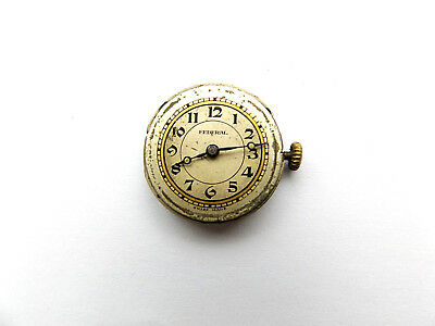 """Lovely Vintage Ladies """"federal"""" 7Jewels Swiss Made Wrist Watch Movement, Working"""