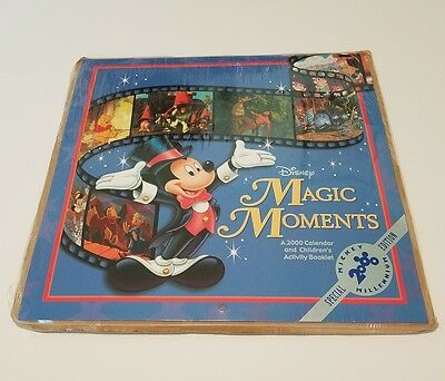 Magic Moments 2000 Calendar and Activity Booklet Stickers Certificate New Disney
