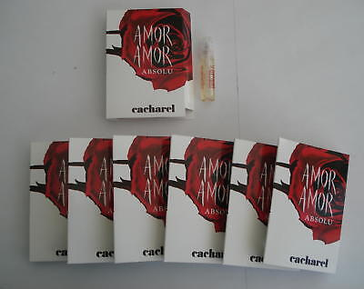 Lot 7 Echantillons Cacharel Amor Amor Absolu Eau De Parfum 1.5 Ml - Tigettes