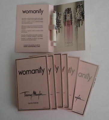 Lot 7 Echantillons Thierry Mugler Womanity Eau De Parfum 1.2 Ml - Tigettes