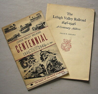 TWO Lehigh Valley  1846-1946 Centennial Brochures LVRR Black Diamond History