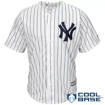 MLB Baseball Maillot Cool Base NY New York Yankees Brode Blanc XL Neuf