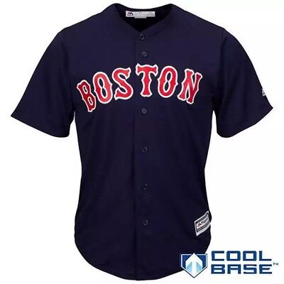 MLB Baseball  Maillot Cool Base boston Red Sox Brode Bleu Foncé L Neuf