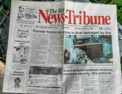 """Britt iowa HOBO """"News Weekly""""...July 21...1999...Pictures  stories complete"""