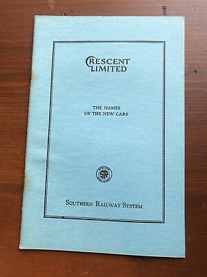 1920s CRESCENT LIMITED Train Route Map Booklet NY to New Orleans Southern RR