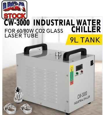 Water Chiller Industrial Alarm CW-3000 DG Air Cooled CO2 Laser Engraving Machine