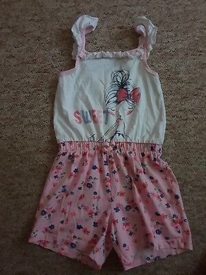 Girls Playsuit All In One Age 5-6 Years By George