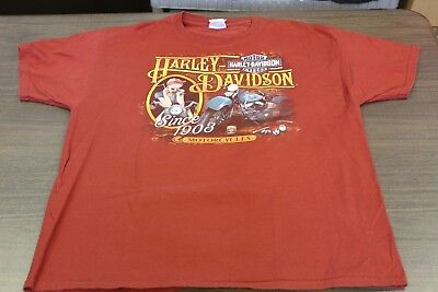 Harley Davidson Cairns, Australia Men's Burnt Orange T-Shirt - XL
