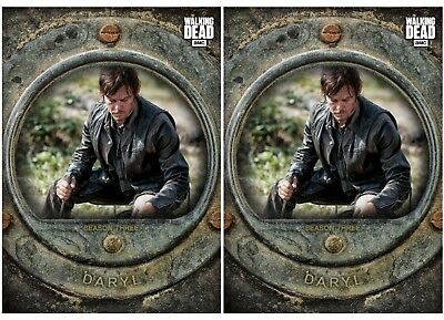 2X Daryl Dixon-Cost Of Life-Gray-Wave 2-Topps Walking Dead Card Trader