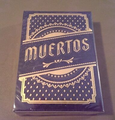 Muertos Black day of the dead playing cards NEW limited rare