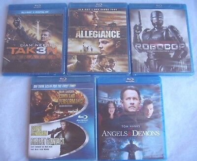 Lot of 5 - Brand New Sealed Blu-ray Disc Movies