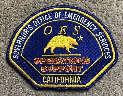 California OES Emergency Services Operations Support Patch