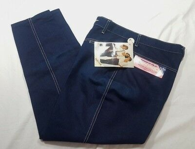 Vtg 1986 P.s. Gitano Women's 16 Short Stretch Dark Blue Jeans New With Tags