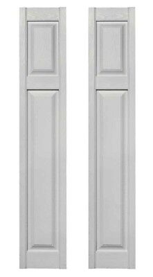 Cottage Style Raised Panel Shutters Pair #030 Paintable