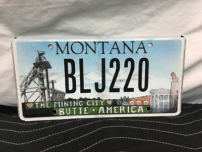 "Montana License Plate ""the Mining City   Butte, America"" Blj220"