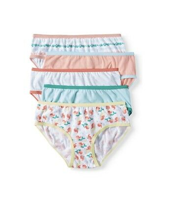 Wonder Nation Girls size 12 Hipster Tag-Free Panties Underwear 5 Pack New