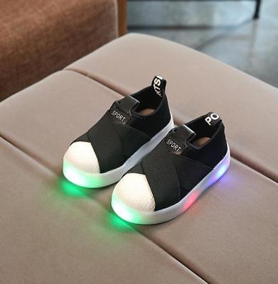 LE LED Lights Shoes Shellfish Webbing Casual Shoes Children Boy Girl Kid Sneaker