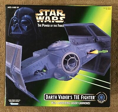 Star Wars Kenner POTF Darth Vader's TIE Fighter w/ Launching Laser Cannon NIB