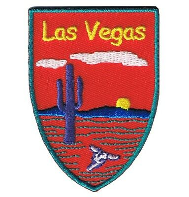 Las Vegas, Nevada Patch - Desert, Saguaro Cactus, Sunset (Iron on)