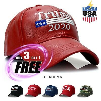 Trump Hat Cap President Make America Great Again MAGA Baseball RED Flag US USA