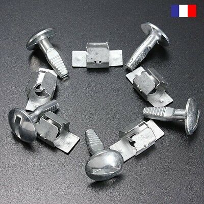 Kit de 10 Clips Vis Fixation Protection Agrafe Pour Peugeot 206 207 406 407 806