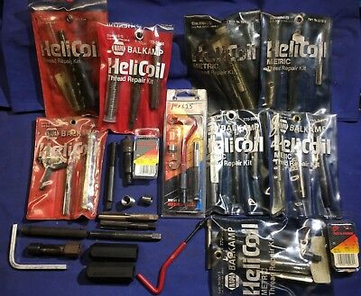 Large lot of mixed NAPA Balkamp HeliCoil sets SAE & Metric 10X1.5 10X1.25 9X1.25