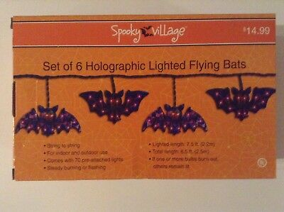 Holographic Lighted Flying Bats - New In Box