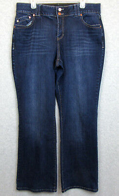 Lane Bryant Womens Size 16 Jeans Denim Dark Wash Boot Cut Tummy Control Stretch
