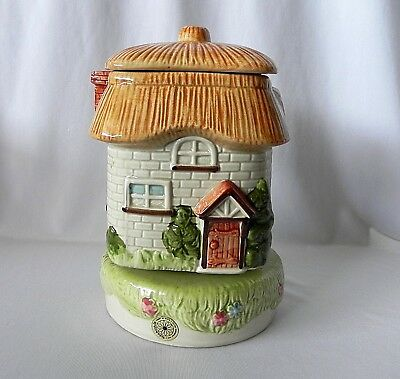 Vintage TAKAHASHI COOKIE JAR MUSIC BOX HOME SWEET HOME Japan