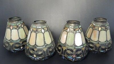 Tiffany Style Lamp Shade Globe Stained Glass  SET OF 4