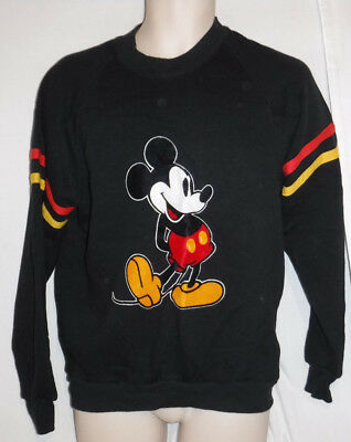Vintage 1980's Mickey Mouse Sweatshirt Size Large Made In Usa L@@k