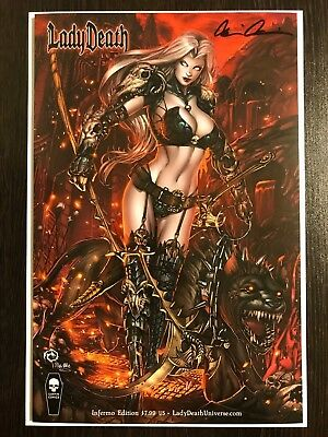 Lady Death Chaos Rules #1 INFERNO Variant Jesse Wichmann Signed Pulido NM+