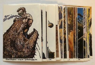 1996 Complete Set Bernie Wrightson Fantasy Art Stickers Great Condition