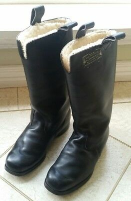 Rossi Rossiter Black Leather Motorcycle Boots Mad Max XB Interceptor