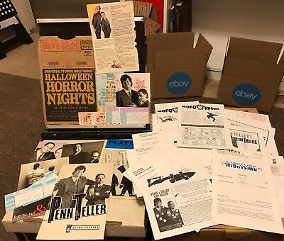 Penn & Teller 20 MOFO Knows, Programs, Cards, Clippings 1980s-1990s