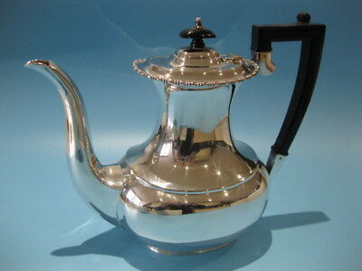 Extremely Elegant Antique Silver Plated Large Georgian Style Coffee Pot
