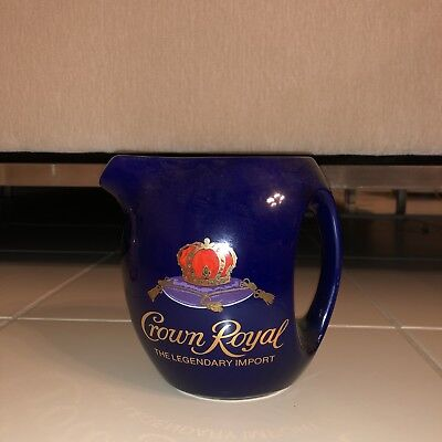 Vintage Ceramic Crown Royal Pitcher Jug